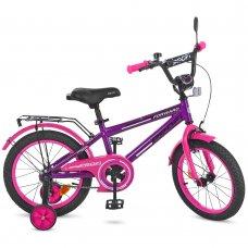 Детский двухколесный велосипед Profi Forward 14 дюймов, T1477 фиолетово-розовый