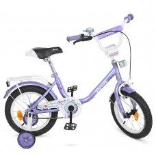 Детский двухколесный велосипед Profi Flower 14 дюймов Y1483 фиолетовый
