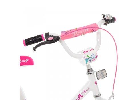 Детский двухколесный велосипед Profi Flower 14 дюймов Y1485 бело-розовый