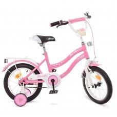 Детский двухколесный велосипед Profi Star 14 дюймов, Y1491 розовый