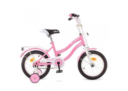 Детский двухколесный велосипед 14 дюймов Profi Star Y1491 розовый