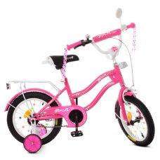 Детский двухколесный велосипед Profi Star 14 дюймов XD1492 малиновый