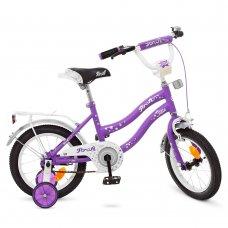 Детский двухколесный велосипед Profi Star 14 дюймов Y1493 сиренево-серый