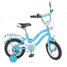 Детский двухколесный велосипед Star Profi 14 дюймов, L1494 голубой