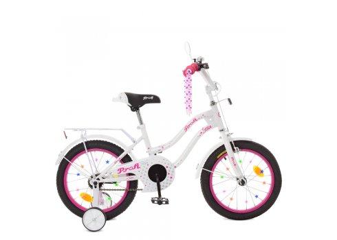 Детский двухколесный велосипед Profi Star 14 дюймов XD1494 бело-малиновый