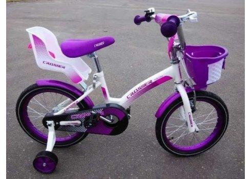 Двухколесный велосипед Crosser Kids Bike 12 дюймов фиолетовый