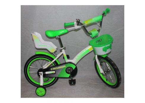 Двухколесный велосипед Crosser Kids Bike 14 дюймов зеленый