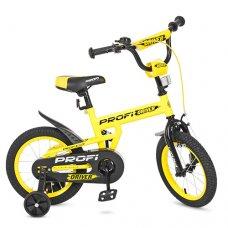 Детский двухколесный велосипед Driver Profi 14 дюймов, L14111 желтый