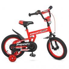 Детский двухколесный велосипед Driver Profi 14 дюймов, L14112 красный