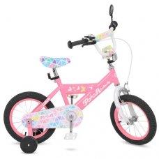 Детский двухколесный велосипед Butterfly 2 Profi 14 дюймов, L14131 розовый