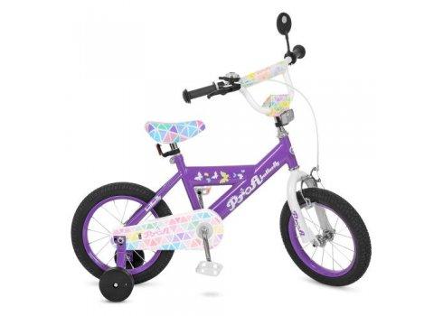 Детский двухколесный велосипед Butterfly 2 Profi 14 дюймов, L14132 сиреневый