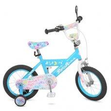 Детский двухколесный велосипед Butterfly 2 Profi 14 дюймов, L14133 голубой
