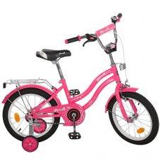 Детский двухколесный велосипед Star Profi 14 дюймов, L1492 малиновый