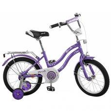 Детский двухколесный велосипед Star Profi 14 дюймов, L1493 фиолетовый
