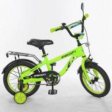 Детский двухколесный велосипед Space Profi 14 дюймов, T14153 салатовый