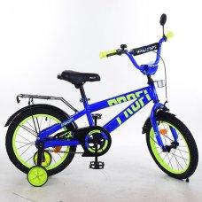 Детский двухколесный велосипед Flash Profi 14 дюймов, T14172 синий