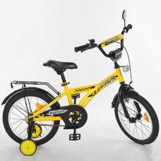 Детский двухколесный велосипед Racer Profi 14 дюймов, T1432 желтый