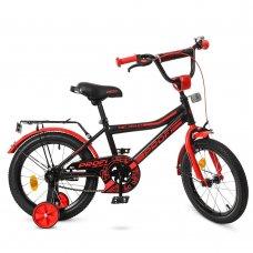 Детский двухколесный велосипед Profi Top Grade 16 дюймов Y16107 черно-красный матовый