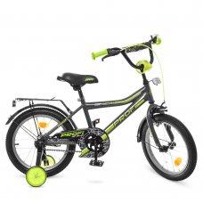 Детский двухколесный велосипед Profi Top Grade 16 дюймов Y16108 графитово-салатовый (матовый)