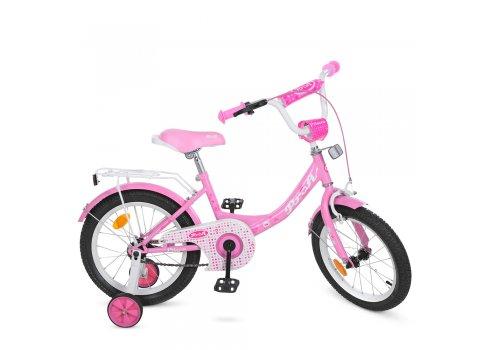 Детский двухколесный велосипед Profi Princess 16 дюймов Y1611 розовый
