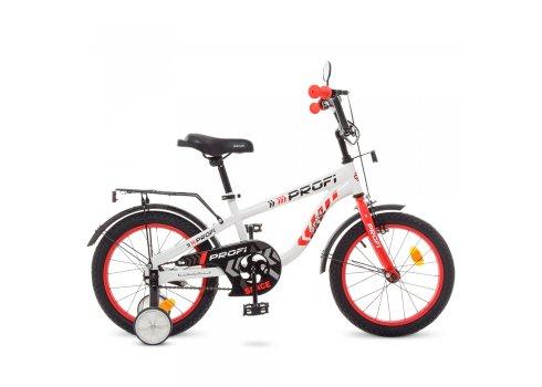 Детский двухколесный велосипед Profi Space 16 дюймов T16154 бело-красный