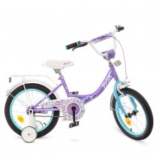 Детский двухколесный велосипед Profi Princess 16 дюймов Y1615 сиренево-мятный