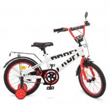 Детский двухколесный велосипед Profi Flash 16 дюймов T16172 бело-красный