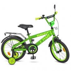 Детский двухколесный велосипед Profi Flash 16 дюймов T16173 салатовый