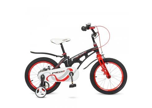 Детский двухколесный велосипед на магниевой раме Profi Infinity 16 дюймов LMG16201 черно-красный матовый
