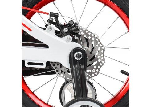 Детский двухколесный велосипед на магниевой раме Profi Infinity 16 дюймов LMG16202 бело-красный