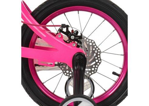 Детский двухколесный велосипед на магниевой раме Profi Infinity 16 дюймов LMG16203 малиново-розовый