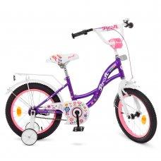 Детский двухколесный велосипед Profi Bloom 16 дюймов Y1622-1 фиолетовый