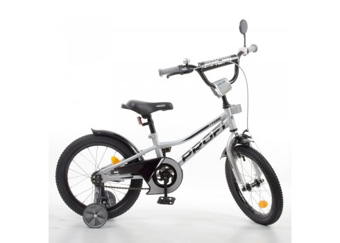 Детский двухколесный велосипед 16 дюймов PROFI Prime Y16222-1 металлик