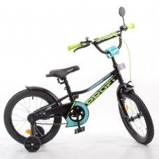 Детский двухколесный велосипед 16 дюймов PROFI Prime Y16224-1 черний