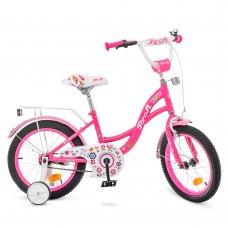 Детский двухколесный велосипед Profi Bloom 16 дюймов Y1623-1 малиновый