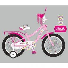Детский двухколесный велосипед 16 дюймов PROFI Unicorn Y16241-1 розовый
