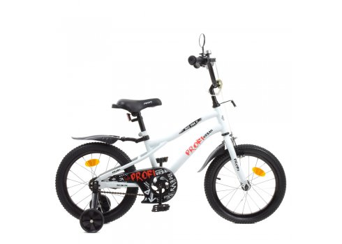 Детский двухколесный велосипед 16 дюймов Profi Urban Y16251-1 белый матовый