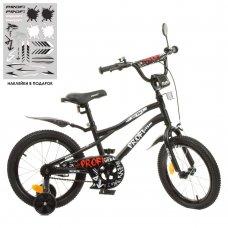 Детский двухколесный велосипед 16 дюймов Profi Urban Y16252-1 черный матовый