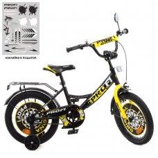 Детский двухколесный велосипед 16 дюймов Profi Original boy Y1643-1 желто-черный