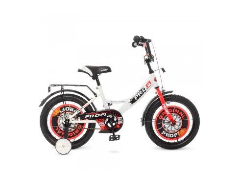 Детский двухколесный велосипед Profi Original boy 16 дюймов Y1645 бело-красный
