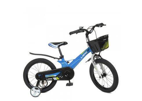 Детский двухколесный велосипед 16 дюймов Profi Hunter WLN1650D-1N голубой