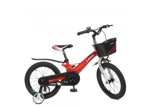 Детский двухколесный велосипед 16 дюймов Profi Hunter WLN1650D-3N красный