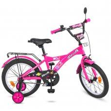 Детский двухколесный велосипед Profi Original girl 16 дюймов T1662 малиновый