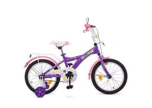 Детский двухколесный велосипед Profi Original girl 16 дюймов T1663 фиолетово-розовый