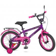 Детский двухколесный велосипед Profi Forward 16 дюймов T1677 фиолетово-розовый