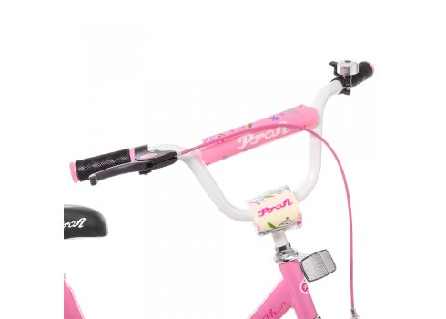 Детский двухколесный велосипед Profi Flower 16 дюймов Y1681 розовый