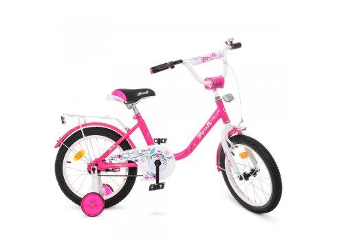 Детский двухколесный велосипед Profi Flower 16 дюймов Y1682 малиновый