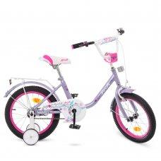 Детский двухколесный велосипед Profi Flower 16 дюймов Y1683 фиолетовый