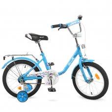 Детский двухколесный велосипед Profi Flower 16 дюймов L1684 голубой