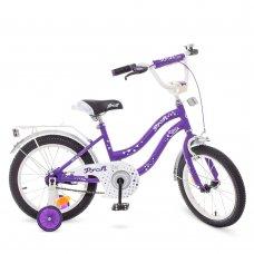 Детский двухколесный велосипед Profi Star 16 дюймов Y1693 сиренево-серый
